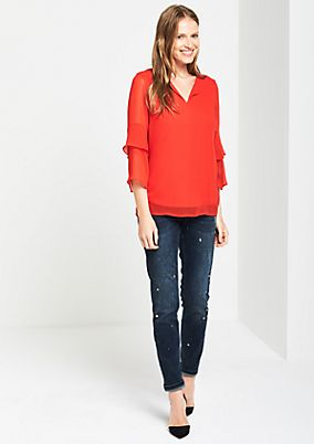 Extravagant crêpe blouse with 3/4-length sleeves from s.Oliver