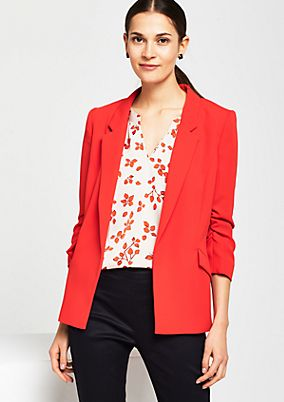 Elegant business blazer with 3/4-length sleeves from s.Oliver