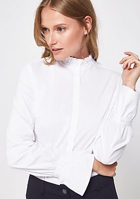 Elegant business blouse with decorative details from s.Oliver