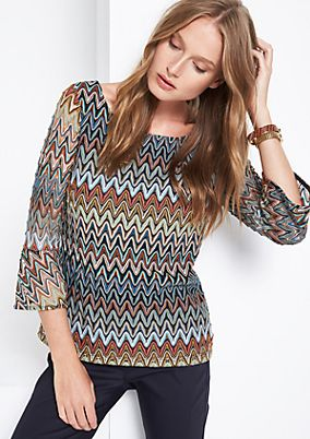Jumper with a psychedelic pattern from s.Oliver