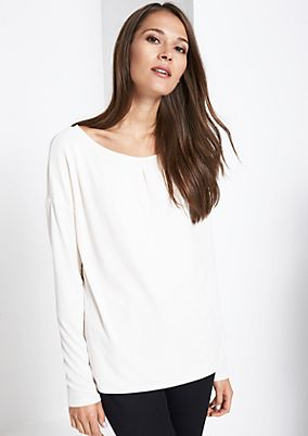 Long sleeve crêpe top with fine details from comma