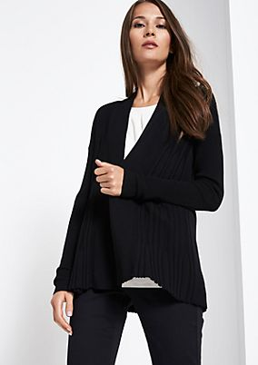 Soft cardigan with an exciting pattern from comma