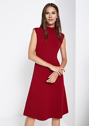 Long knit dress in a ribbed look from comma