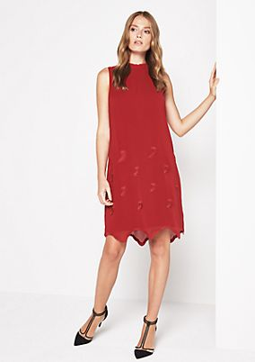 Chiffon dress with tonal embroidery from comma