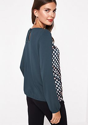 Classic long sleeve top in a fabric blend from comma