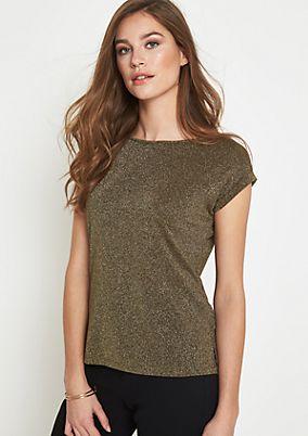 Glamouröses Kurzarmshirt aus Glitzergarnen