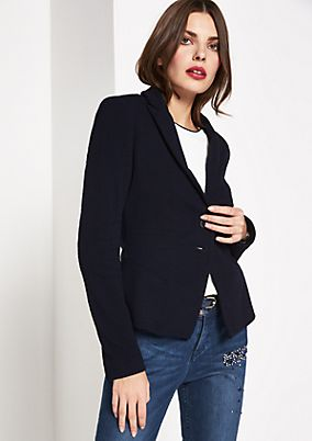 Elegant business blazer with a textured outer surface from comma