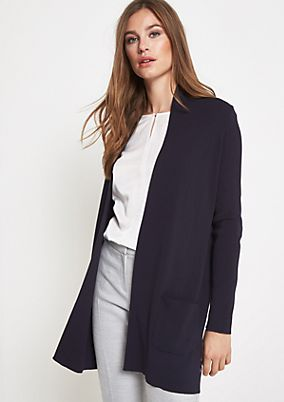 Long cardigan with patch pockets from comma