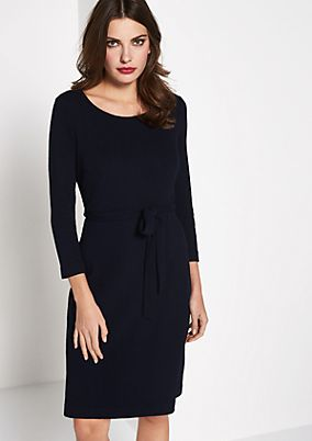 Knitted dress with a decorative textured pattern from comma