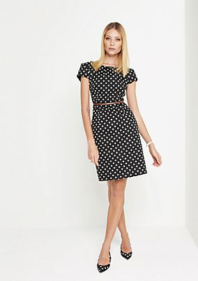 Feines Businesskleid mit Polka Dot-Muster