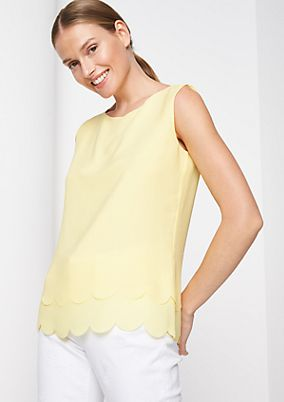 Delicate chiffon blouse in a layered look from comma