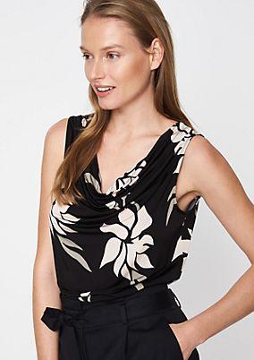 Top mit dekorativem Floralprint