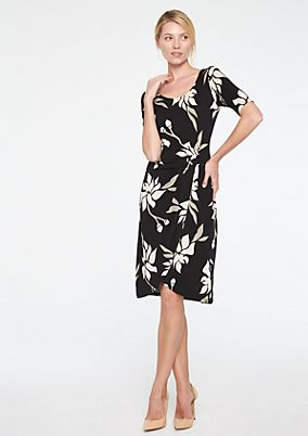 Jerseykleid mit dekorativem Floralprint