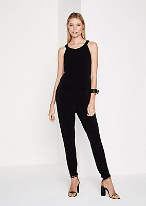 Sleeveless jumpsuit in a tiered look from comma