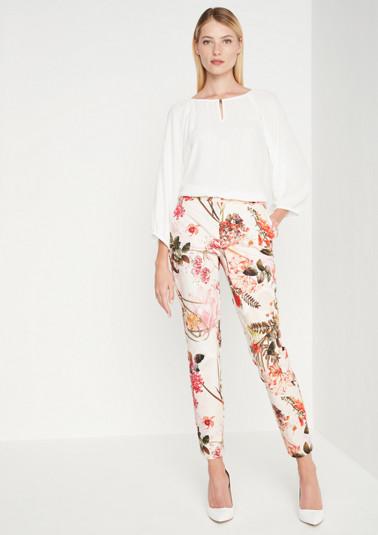 Businesspants mit farbenprächtigem Floralmuster