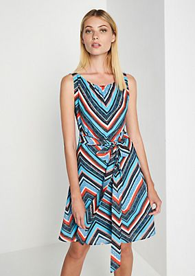 Chiffon dress with a sophisticated all-over pattern from comma