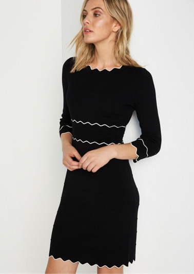 Knitted dress with 3/4-length sleeves from comma