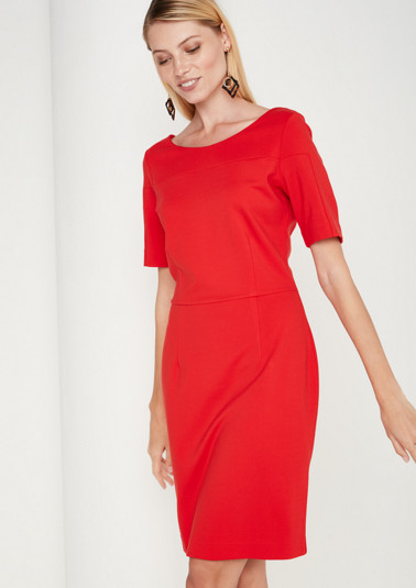 Elegant sheath dress with short sleeves from comma