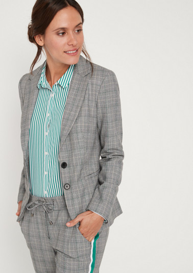 Business blazer in a classic checked design from comma