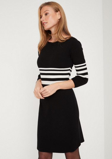 Soft fine knit dress with 3/4-length sleeves from comma