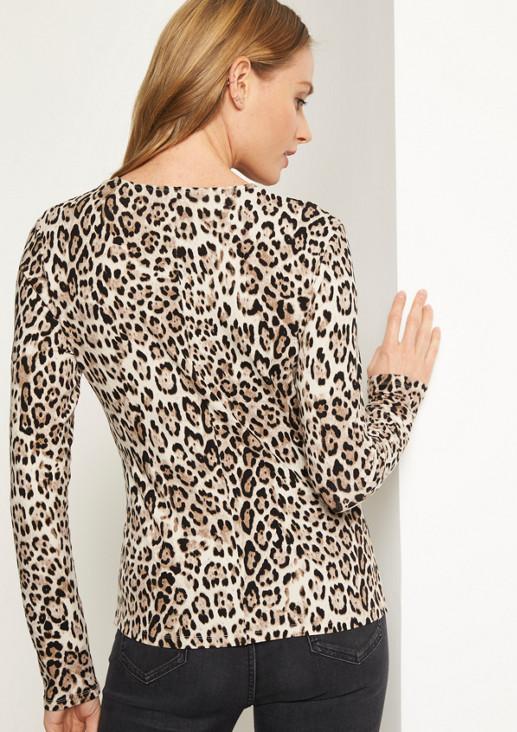 Jersey-Longsleeve mit Leopardenmuster