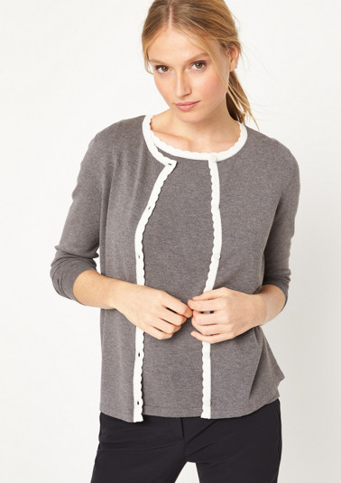 Knit cardigan with smart details from comma