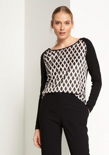 Long sleeve top with a front print from comma