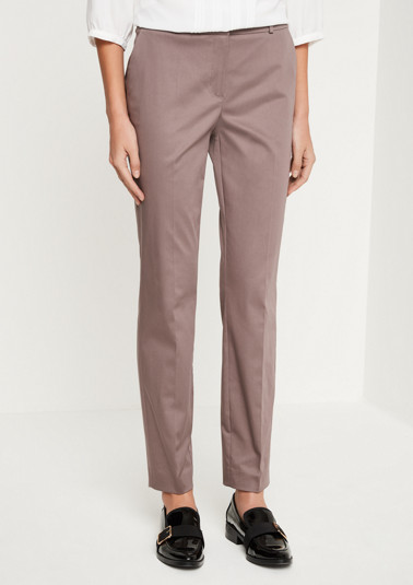 Business trousers with sophisticated details and a matte sheen from comma