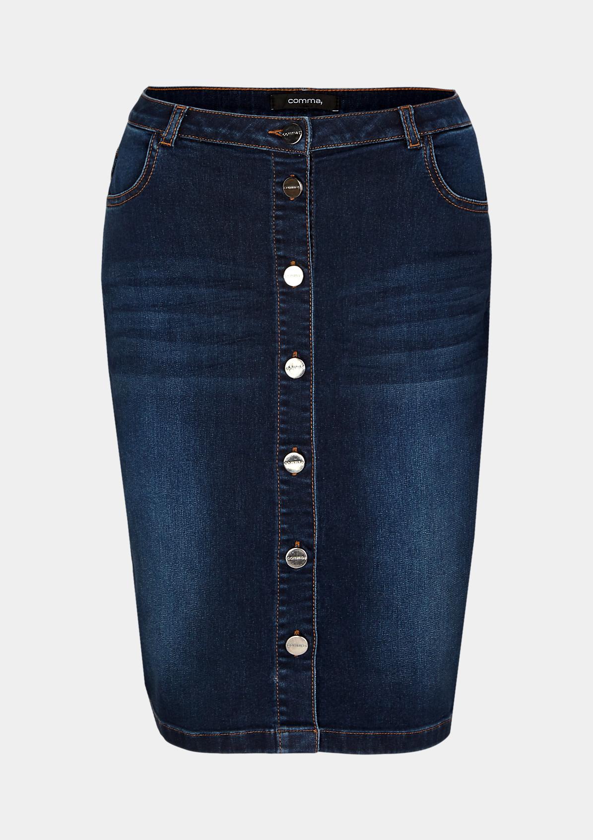 Vintage-look denim skirt from comma