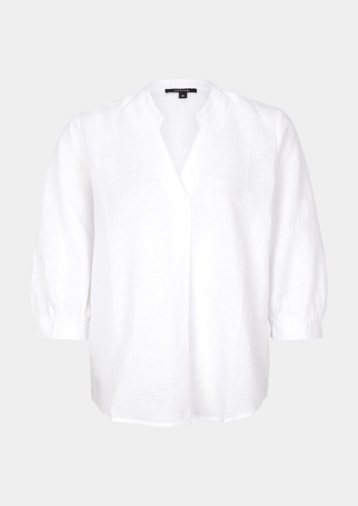 Leichte Bluse mit 3/4-Ärmeln