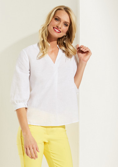 Lightweight blouse with 3/4-length sleeves from comma