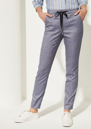 Elegant business trousers with ties from comma