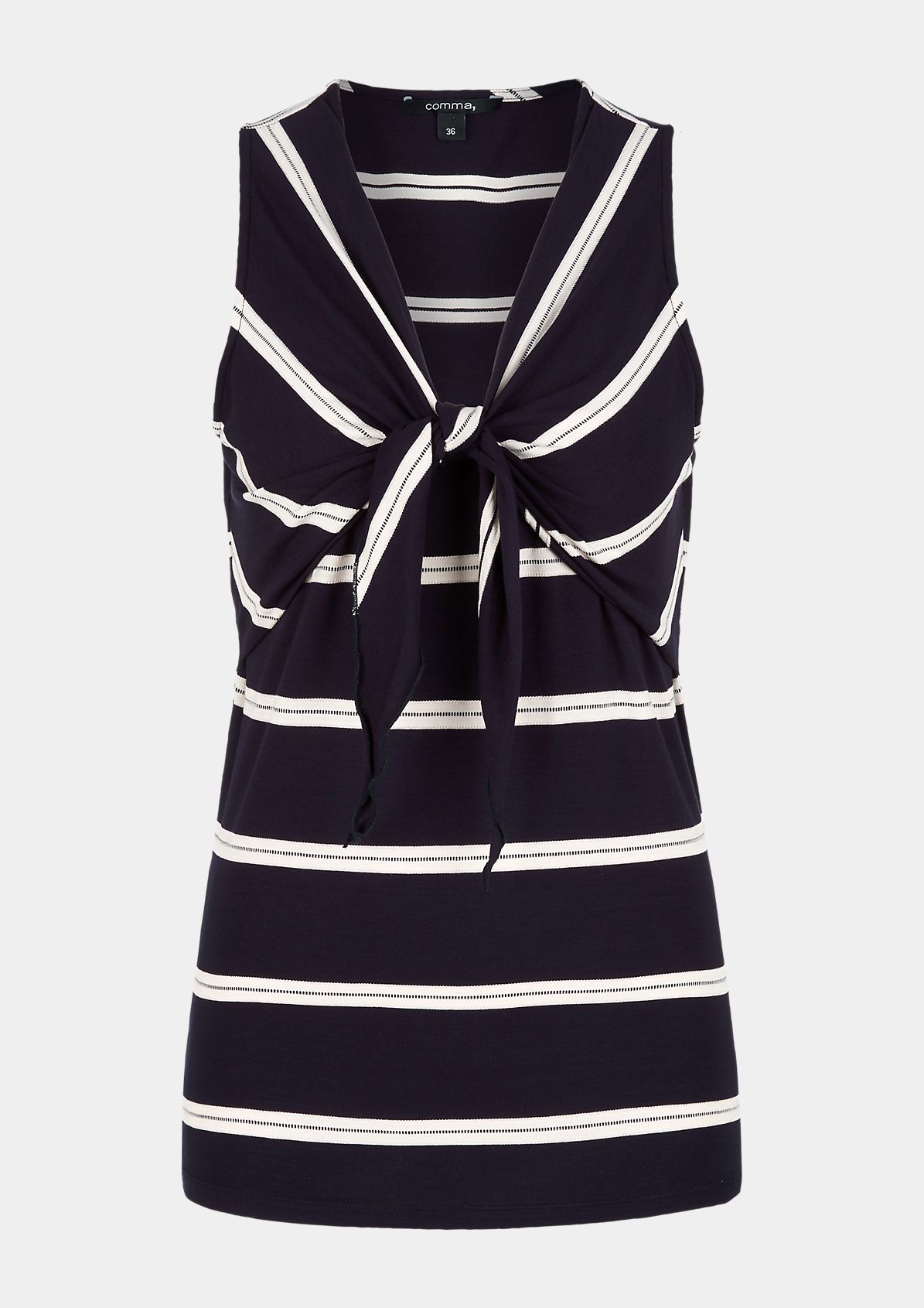 Top with a sporty striped pattern from comma
