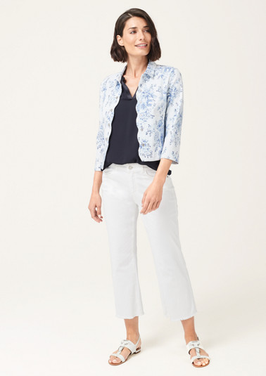 Cropped satin jacket with 3/4-length sleeves from comma