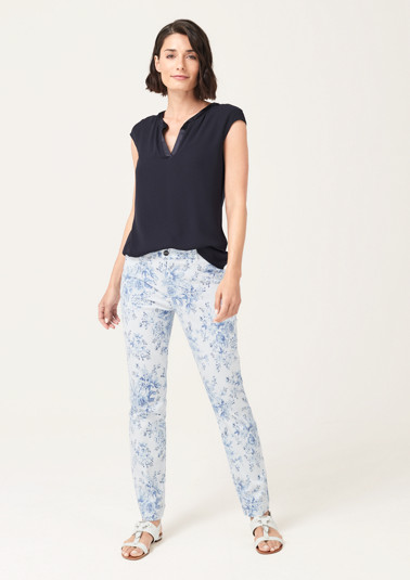 Satin trousers with a pretty front print from comma