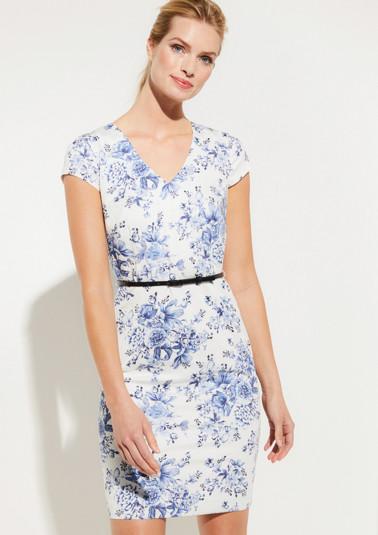 Kleid mit feinem Floralmuster
