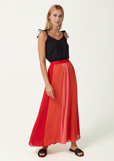Panelled skirt in delicate chiffon from comma
