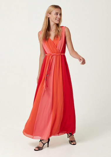 Lightweight chiffon dress in a striped look from comma
