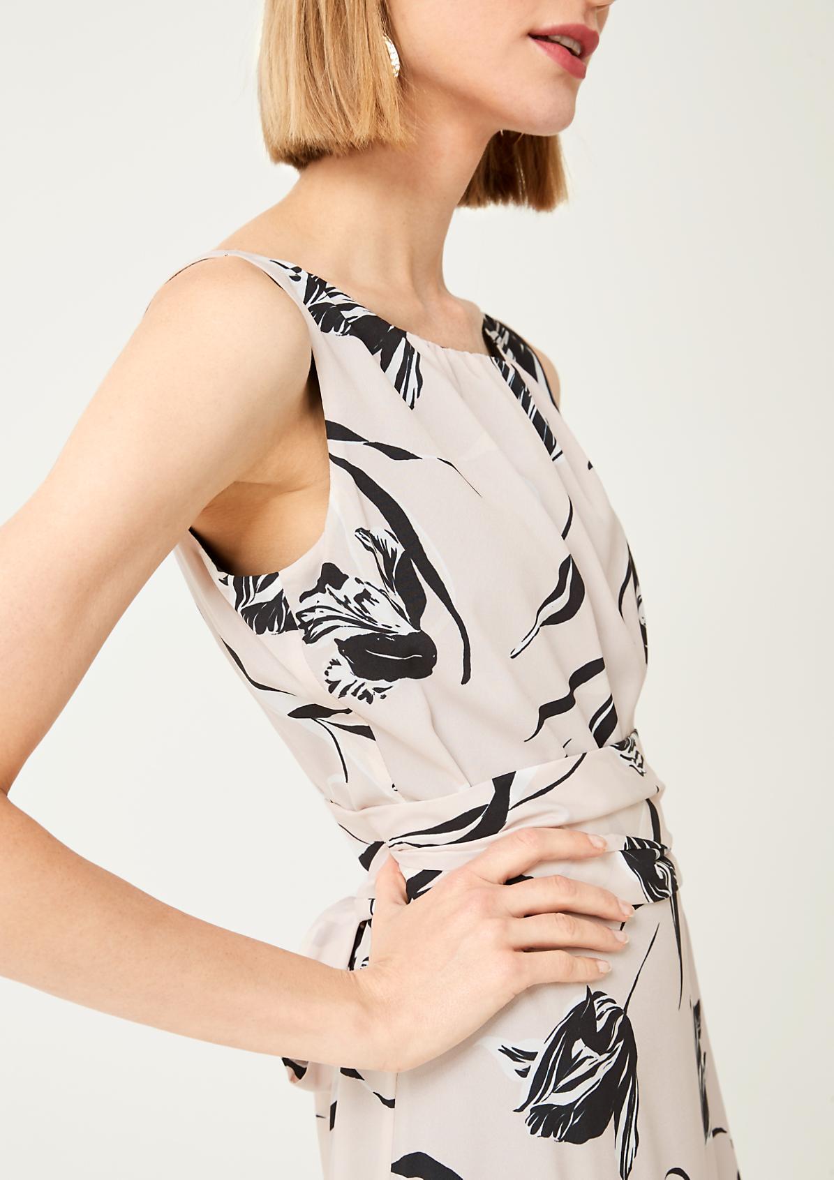 Leichtes Kleid mit Floral-Alloverprint