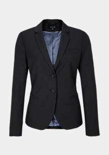Business blazer with a decorative end-on-end pattern from comma