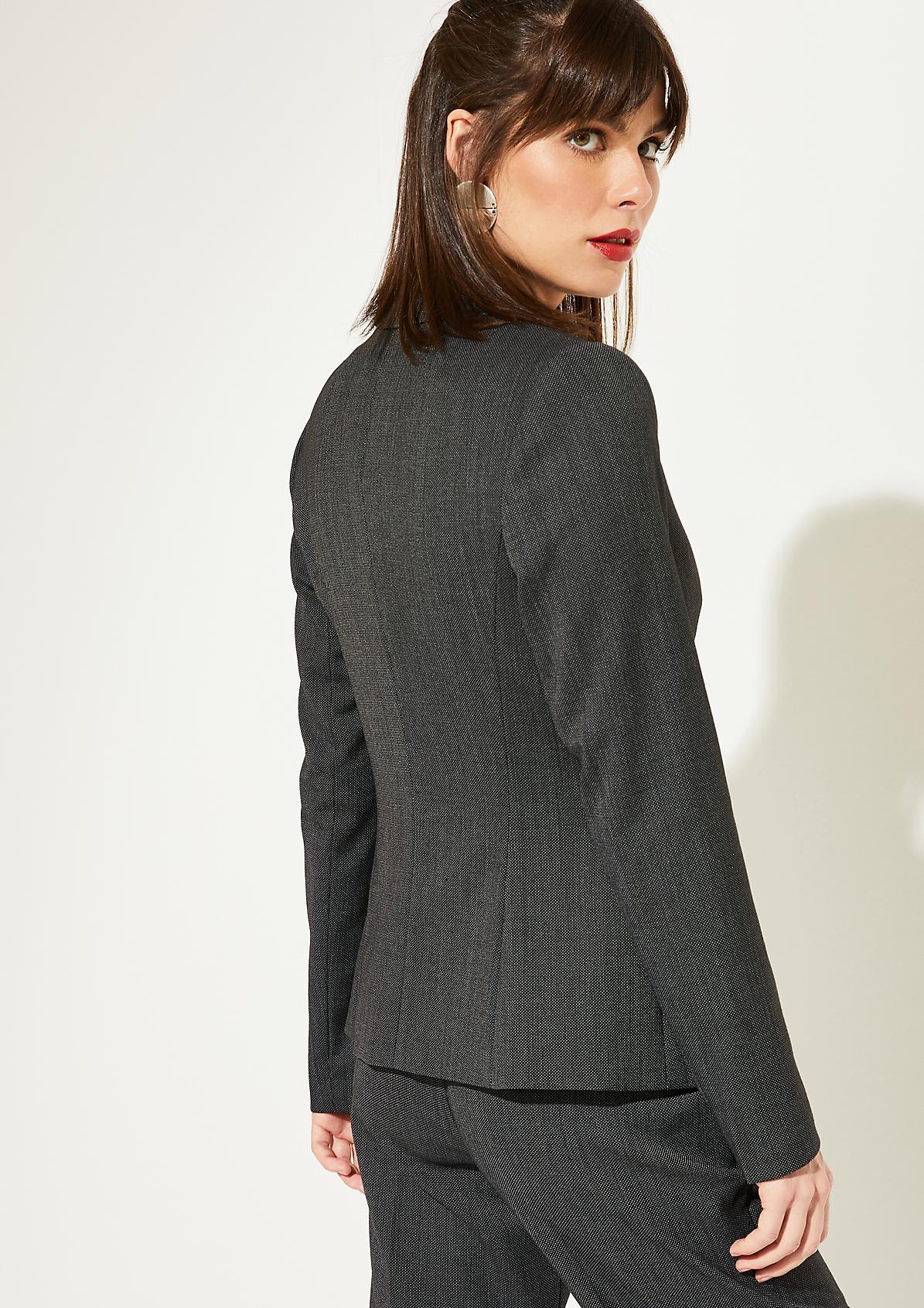 Businessblazer mit aufwendig gestaltetem Fil-a-Fil Muster