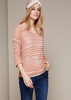 Casual chunky knit jumper with 1/2-length sleeves from s.Oliver