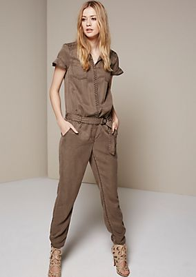 Sporty jumpsuit with short sleeves from s.Oliver