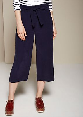 Sporty culottes with a fabric belt from s.Oliver