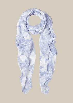 Delicate scarf with a lovely all-over pattern from s.Oliver