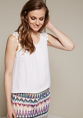 Lightweight summer top with a fine dobby pattern from s.Oliver