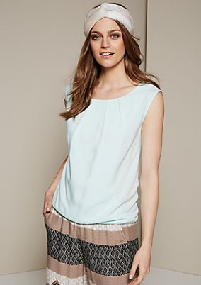 Casual top in a sophisticated mix of materials from s.Oliver