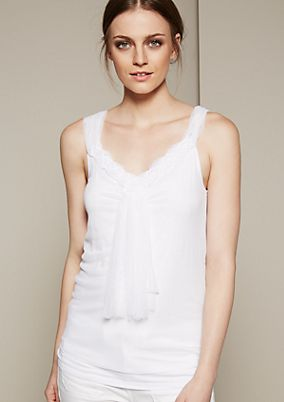 Delicate top with elaborate details from s.Oliver