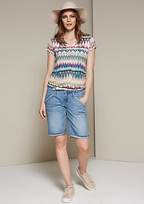 Summery denim Bermudas in a vintage look from s.Oliver