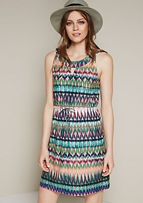 Lightweight casual dress in a colourful mix of patterns from s.Oliver